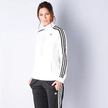 ccc5d473a590b Survêtement adidas Essentials à 3 bandes pour femme en noir et blanc ...