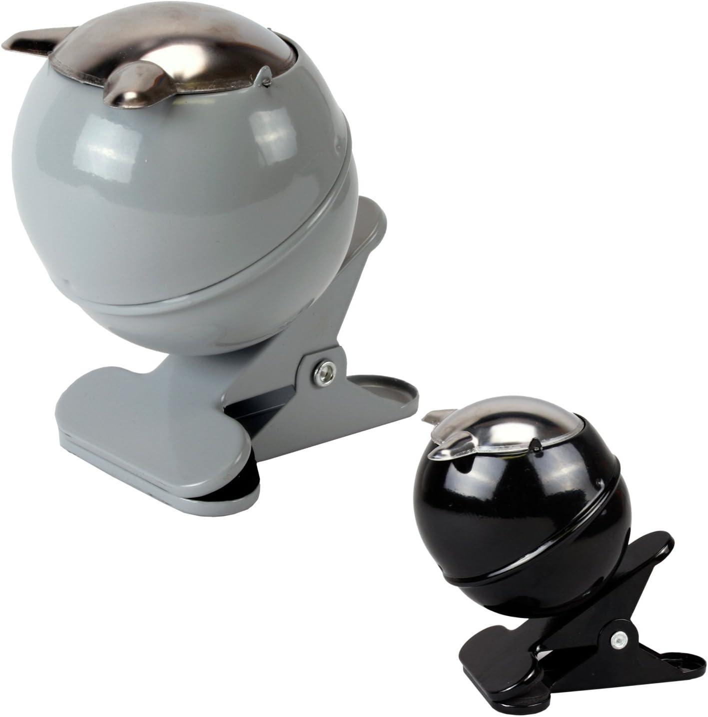 Balkongel/änder etc. schwarz Aschenbecher Sturmaschenbecher Klemmaschenbecher mit Klammer zum Befestigen am Tisch