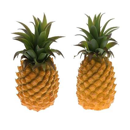 Amazon Com Fenteer 2pcs Artificial Pineapple Plastic Cabinet