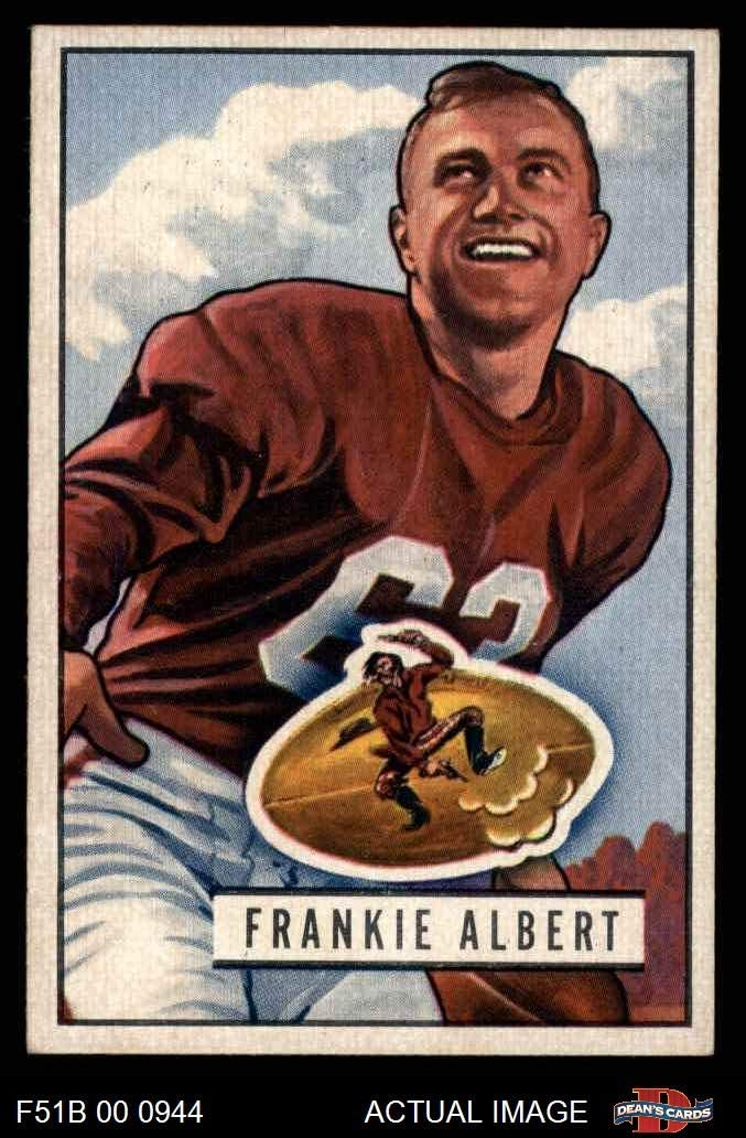 1951 Bowman # 103 Frankie Albert San Francisco 49Ers (Football Card) Dean'S Cards 6 - Ex/Mt 49Ers Stanford