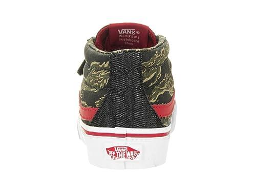 Amazon.com | Vans Kid's SK8-Mid Reissue V Skateboarding Shoe (Camo & Denim)  True White (10.5 M US Little Kid) | Skateboarding