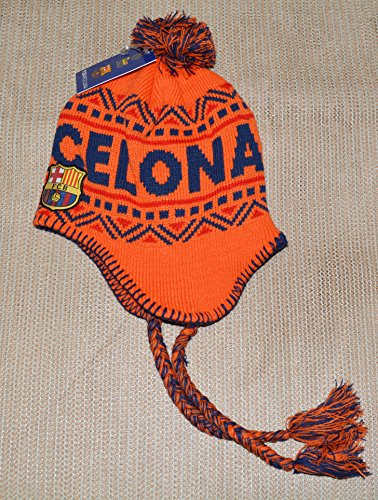 Fc Barcelona Beanie Peruvian Soccer New ! 2014-2015 Official Skull Cap Hat Winter Authentic (ORANGE) by rhinox