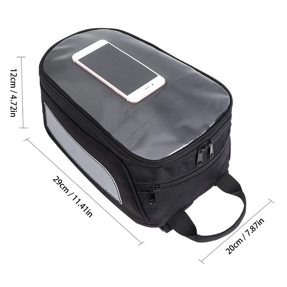SALAMOPH Bolsa de Tanque de Motocicleta Bolsa de Tanque de Combustible de Aceite-Mochila magn/ética Impermeable Caja de Bolsa de Montar de Pantalla Grande