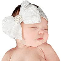 Miugle Baby Girl Lace Headbands with Big Bow