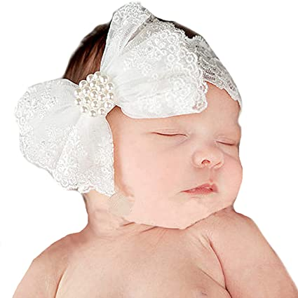 1b32b263da53b Miugle Baby Girl Lace Headbands with Big Bow