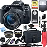 Canon EOS 77D 24.2 MP Digital SLR Camera with EF-S 18-135mm IS USM Lens + 64GB SDXC Memory Card + Accessory Bundle
