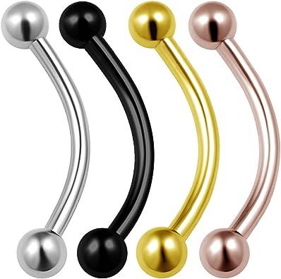 """Titanium Con Joyas Labret Elegir Colores labio oreja oreja tragus X 10mm 16 G 3//8 /"""" 1.2 mm"""