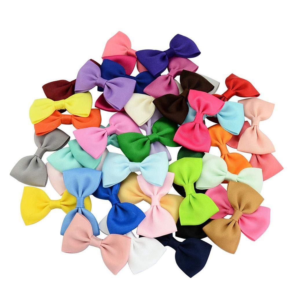 Erholi 40 Pieces Hair Bows Clips Grosgrain Ribbon Bows Alligator Clips Hair Accessories for Girls Toddler Infants Kids Teens Children