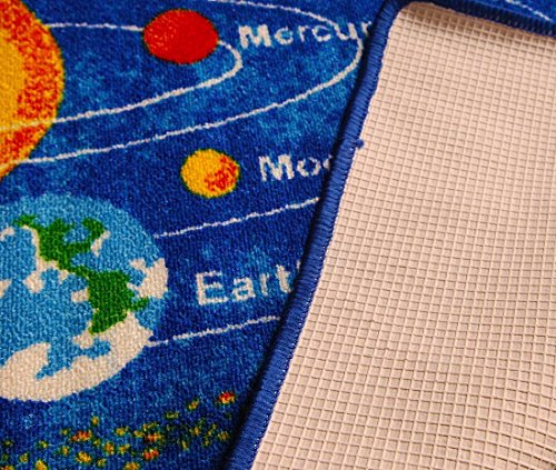 8x10 Kids Boys Children Toddler Playroom Rug Nursery Room Rug Bedroom Rug Fun Colorful ( Solar System ) by LA Rug Linens (Image #3)