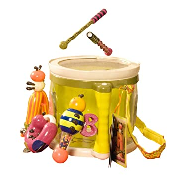 B Toys Parum Pum Pum Toy Drum Kit With 7 Musical Instruments For