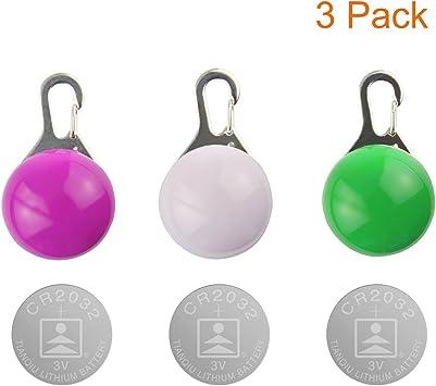 Kyerivs 3PCS Clip-On Pet Collar luces LED, impermeable luces de ...