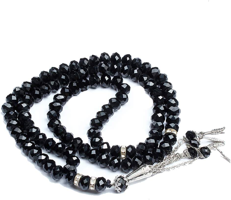 Hongma 3 in 1 Gebetskette Halskette Armband Schwarz f/ür Moslem Islam Schmuck MEHRWEG