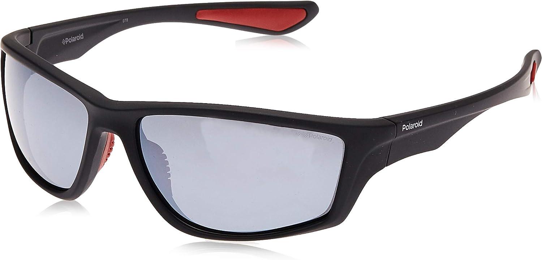 Polaroid PLD 7015/S EX OIT gafas de sol, Negro (Black Red Gld/Greyslv FL Pz), 64 para Hombre