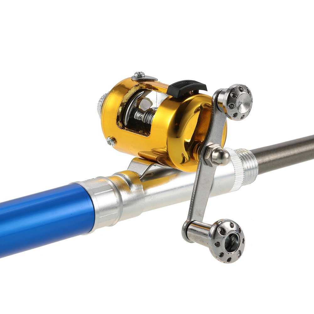 Reel Aluminum Alloy Fishing Line Soft Lures Lixada Pen Fishing Rod Reel Combo Set Telescopic Pocket Fishing Rod Pole
