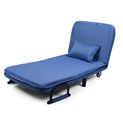Amazon.com: JAXPETY Blue Sofa Bed Folding Arm Chair 29.5 ...