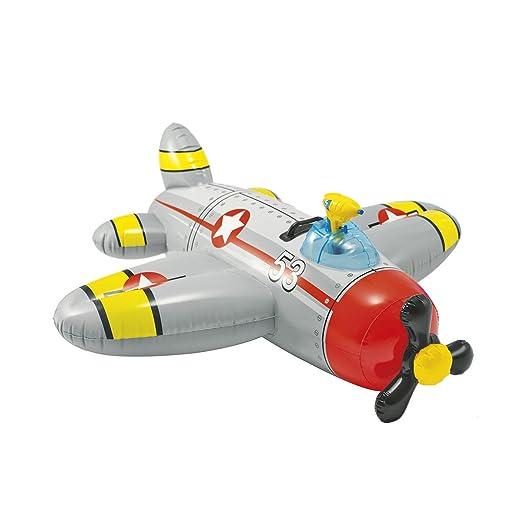 Avión Rojo Hinchable de montar con pistola de agua: Amazon.es: Jardín