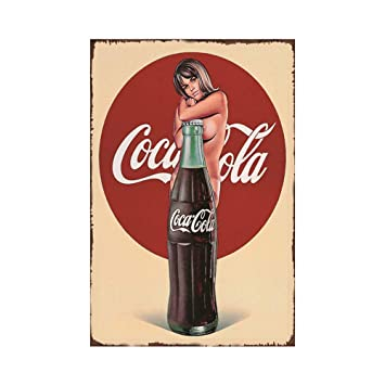 Amazon.com: EffortLife Coca-Cola - Cartel de hojalata retro ...