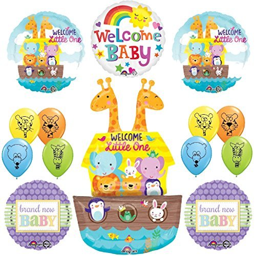 The Ultimate Noahs Ark Jungle Animal Latex Welcome Baby Baby Shower Party Supplies and Balloon Decorations]()