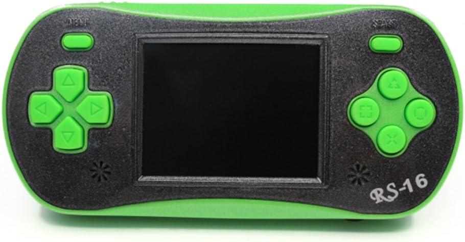 Portable Video Game Console 8 Bit Retro Handheld Game Player Giochi 260 Classici integrati Walmeck Verde