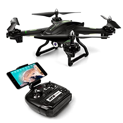 LBLA FPV Drone with WiFi Camera Live Video Headless Mode 2.4Ghz 4 Ch 6 Axis Gyro RTF RC Quadcopter, Compatible with 3D VR Headset, Black: Toys & Games