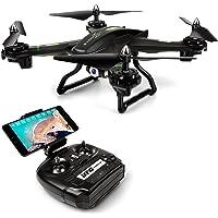 LBLA EDF FPV Drone avec Caméra WiFi Live Video Headless Mode 2.4GHz 4 CH 6 Axis Gyro RTF RC Quadcopter Compatible avec Casque 3D VR Noir