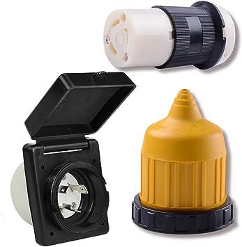 Weatherproof Boot Kit New 30 Amp Power Inlet Female Twist locking Connector
