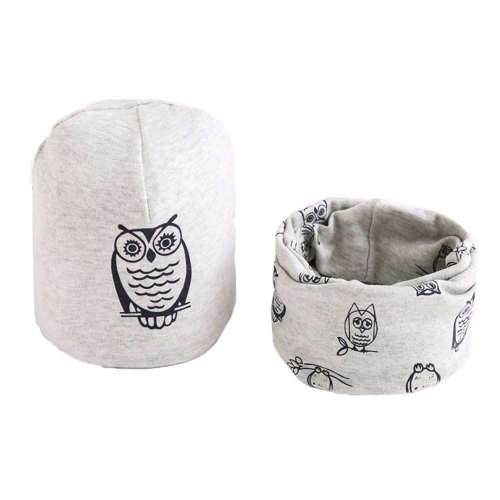 Mbby Cappello + Sciarpa Neonato Inverno, 7-36 Mesi Cappello + Sciarpa Bambino Autunno in Cotton Addensare Antivento Caldo Morbido per Ragazzo Ragazza