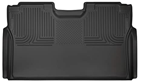 b4c1a20012e4f Husky Liners Black Weatherbeater 2nd Seat Floor Liner Fits 2015-19 Ford  F-150 SuperCrew, 2017-19 Ford F-250/F-350 Crew Cab - WITHOUT factory  storage ...