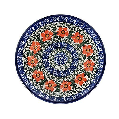 Polish Pottery Handmade 6 Appetizer Toast Plate Traditional Stoneware Pattern Torfl