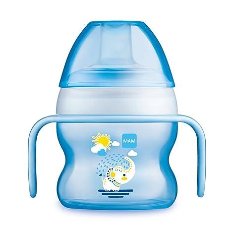 MAM - Copa del bebé con el canalón de goteo, azul (azul ...