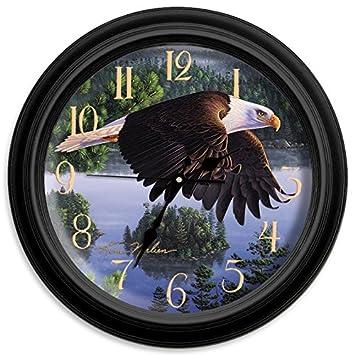 Reflective Art 16 Wings of Destiny Classic Clock