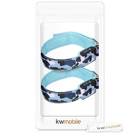 kwmobile Set de 2 brazaletes Luminosos LED - Pulseras de Seguridad ...