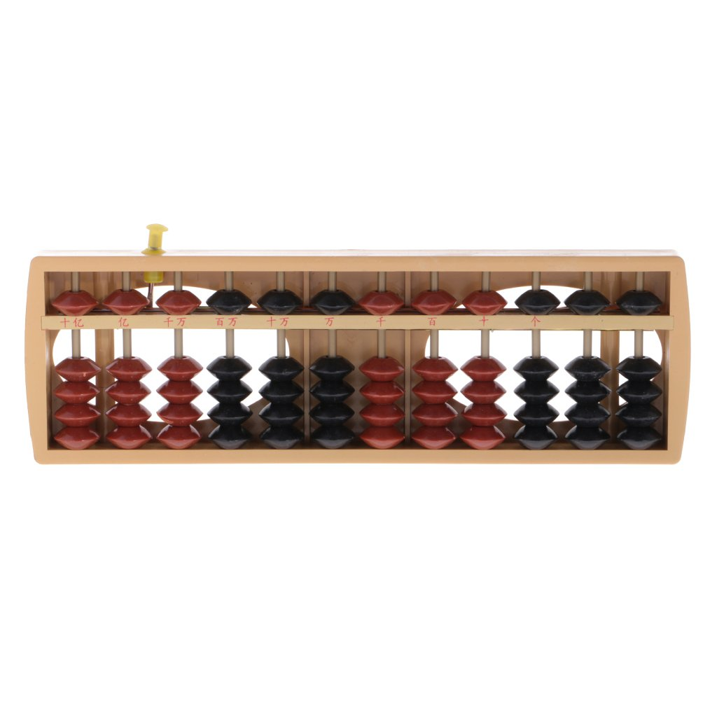 MagiDeal 12-seitig Kunststoff Abakus Zählwerkzeug Soroban Berechnung Mathematik Spielzeug Doppel Farbe