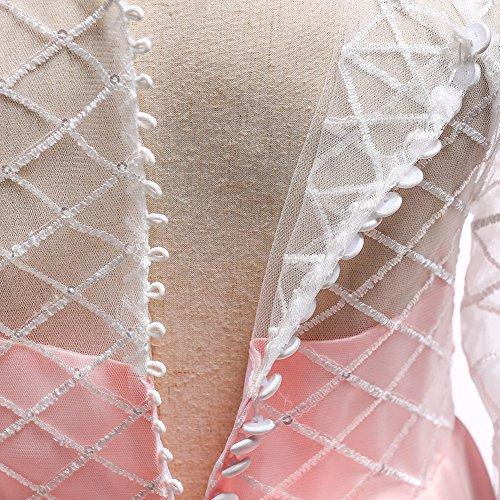 Cordón de de Novia Fiesta Vestido Vestidos Boda LZH Cóctel Princesa Rosa Niñas 204 zOqIWW65