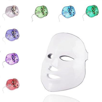 ASDF JL-Máscara De Belleza LED 3D Máscara Facial Instrumento De Máscara 7 Colores Tratamiento