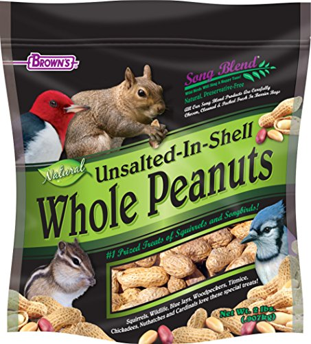 Own Bird Seed Blend - F.M.Brown's Song Blend Unsalted In-Shell Whole Peanuts, 2 lb
