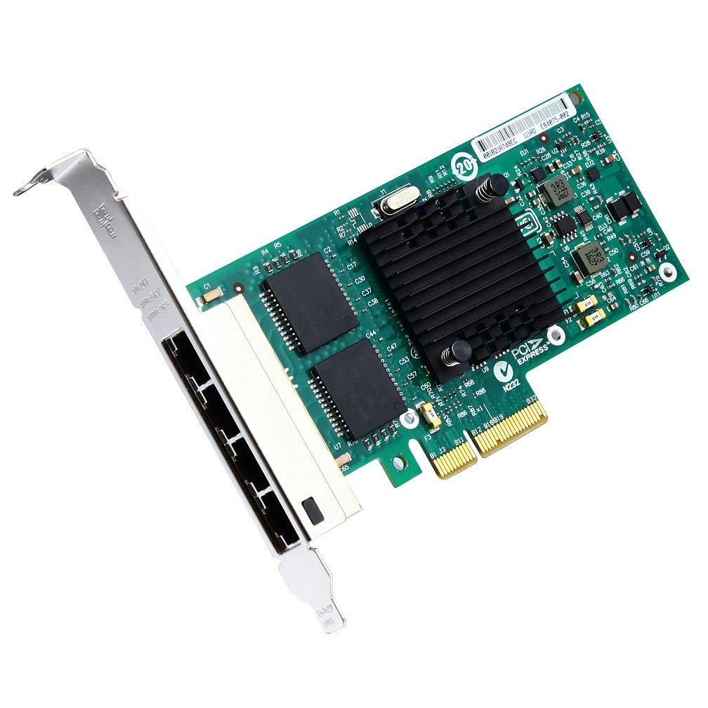 Tarjeta De Red Ipolex Gigabit (nic) - I350-t4 E1g44ht Para Intel 82580, Adaptador De Red Pci Express, Puertos Quad Rj45
