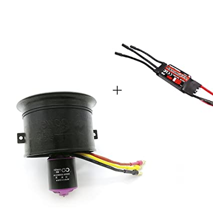 Powerfun Ducted Fan 64mm 11 Blades with RC Brushless Motor 3500KV/3S for RC  Airplane (64mm 3500KV 3S/4S ducted Fan with Motor+ESC50A)