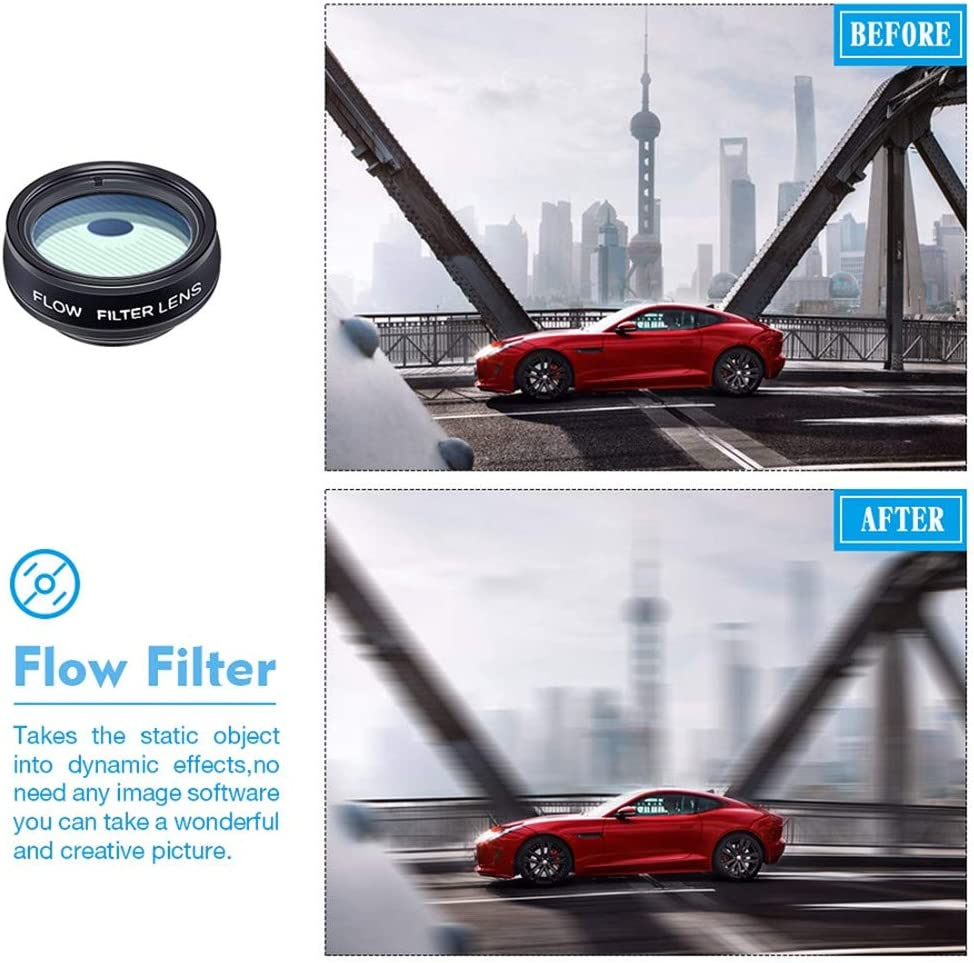 2X Telephoto Lens Star Filter for Phone All Smartphone 0.63Xwide Angle/&Marco Lens WMWHALE Phone Camera Lens Kit 10In1 Lens Kit with 198/°Fisheye Lens