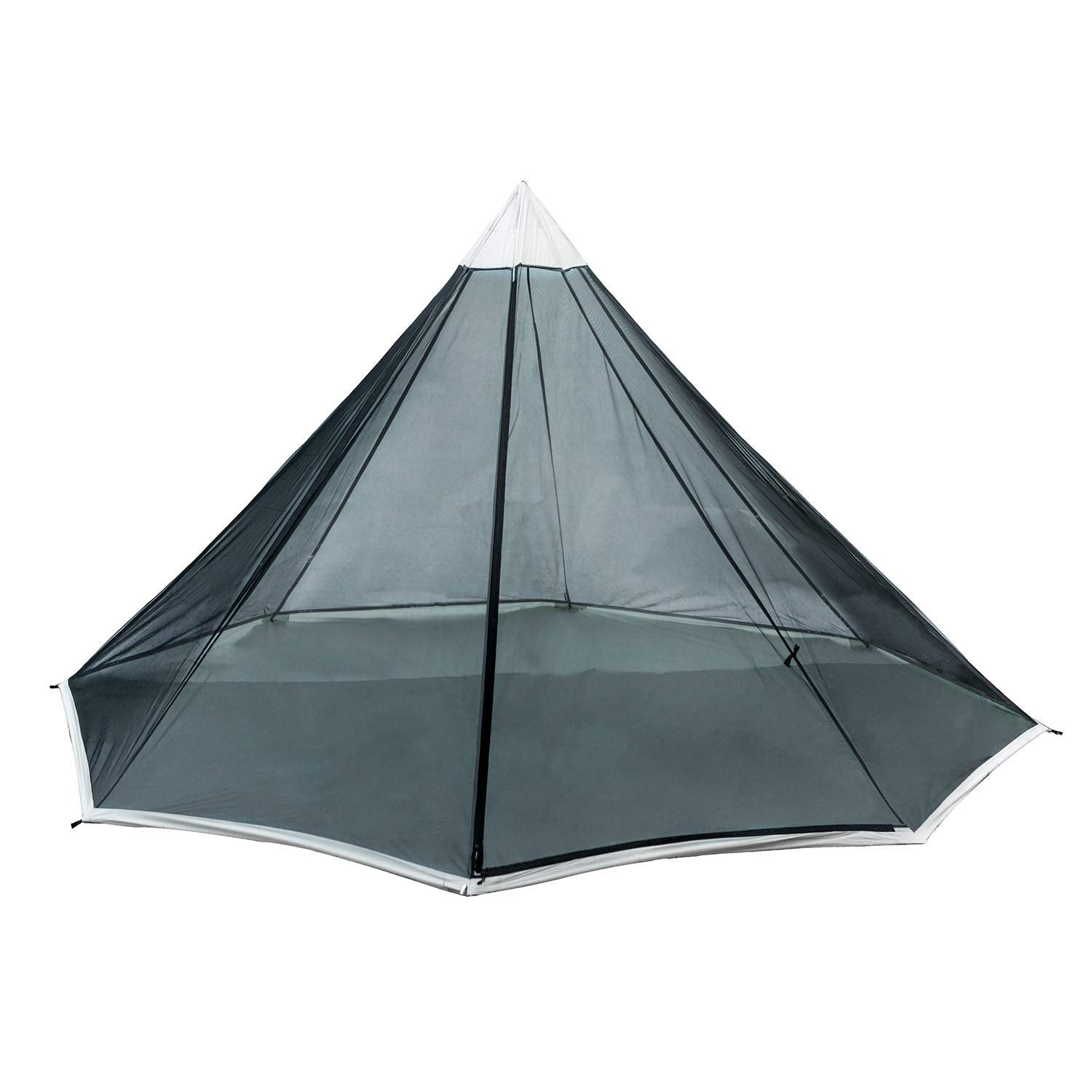 OneTigris Black Orca Howlingtop Double Teepee Mesh Tent, 34.7oz, No Pole by OneTigris