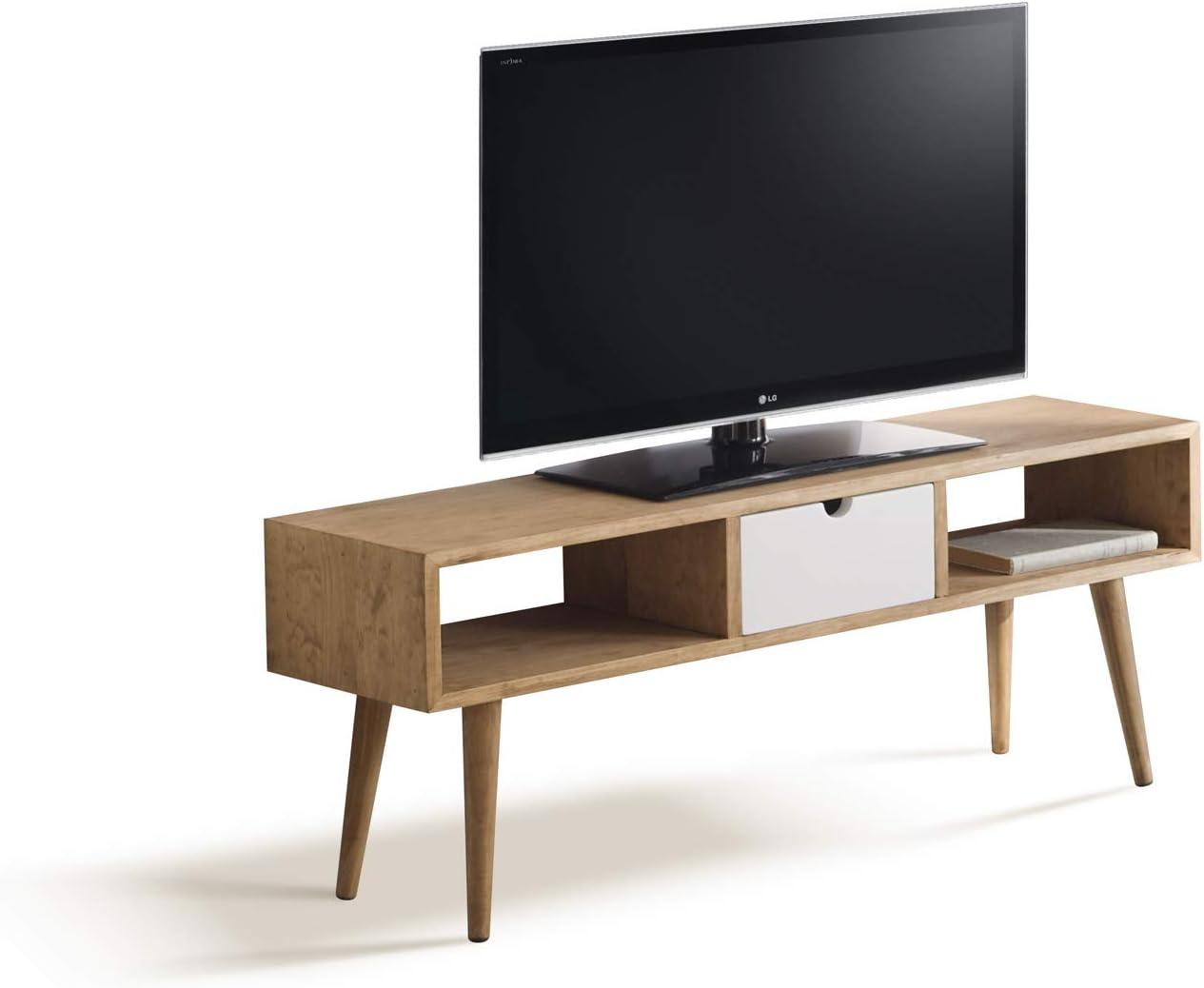 Argos-Mesa televisión, Mueble TV salón diseño Vintage, Cajón y ...