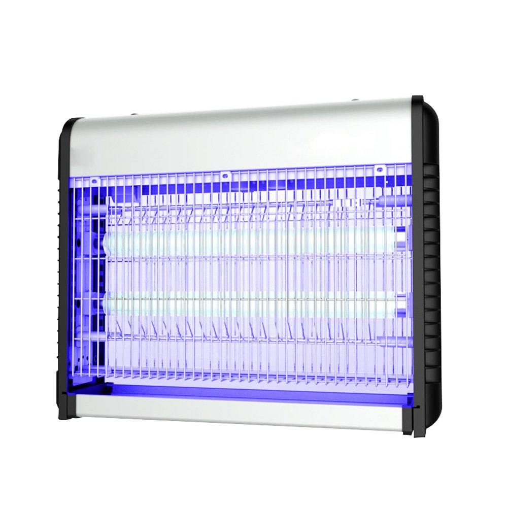 LIQICAI 蚊ランプ殺虫灯 ABSアルミニウム合金UV電気ショックキル昆虫ソケット110Vハンギングチェーンフレーム、銀、4サイズオプション (サイズ さいず : 60W-650x86x320mm) B07DB9NQ2K 60W-650x86x320mm  60W-650x86x320mm
