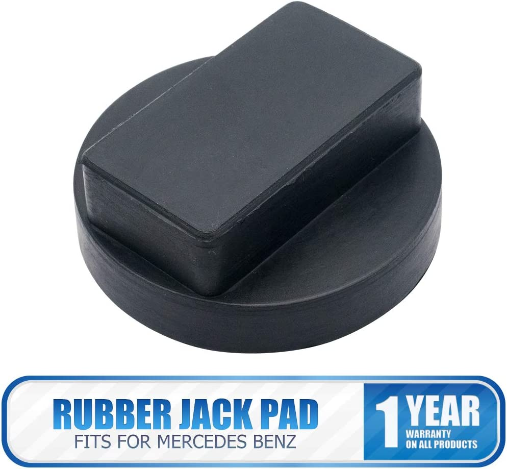 Evgatsauto Black Rubber Jack Pad Adapter Tool Slotted Frame Rail Floor Jack Support Lift Jack Pad for Mercedes-Benz A-Class B-Class C-Class CLA CLK E-Class M S GL SLK 61x23mm