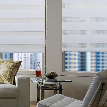 Auralum Blanc Rideau Store Zebra Fenêtre 120 x 60 cm Maison Chambre ...