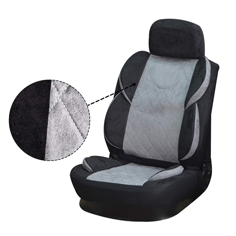Polyester Stretchy Durable Auto Seat Cover for Most Cars ECCPP Universal Car Seat Cover w//Headrest Cover 100/% Breathable Semi-PU Leather Black