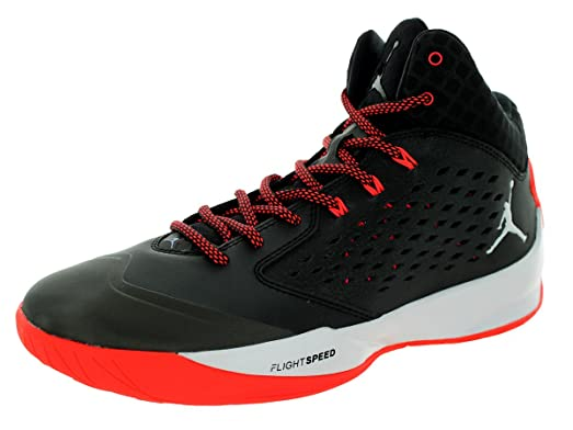 Nike Jordan Men's Jordan Rising High Black/White/Infrared 23 Basketball Shoe  12 Men