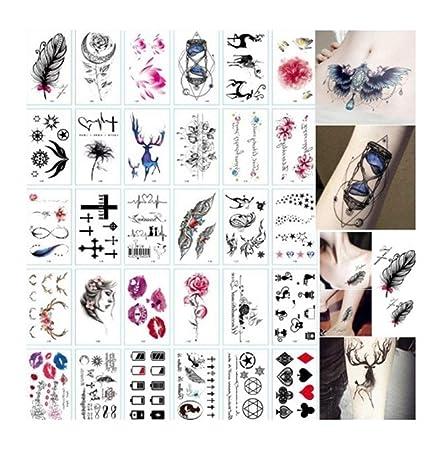 SCH 30 Hoja de Perro de la Historieta 3D Tatuajes del Cuerpo de la ...