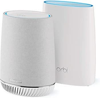Netgear Orbi Mesh Wi-Fi System with Orbi Voice Smart Speaker