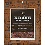 KRAVE Pork Jerky, Grilled Sweet Teriyaki, Low Fat 2.7 Ounce (Pack of 8)