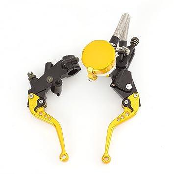 rzmmotor motocicleta cilindro maestro del freno Depósito palanca de embrague ajuste para Yamaha 125 - 300 cc KTM 125 - 300 cc Hyosung 125 - 300 cc: ...
